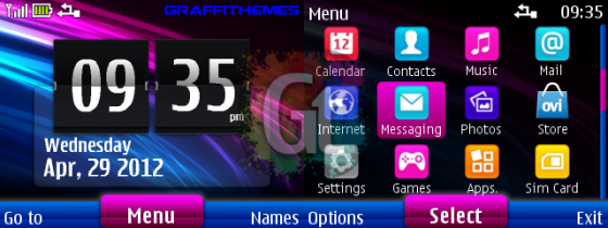 Here is another new theme for Nokia S40 320×240.