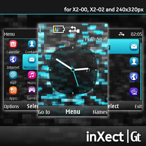 ... for X2-00, X2-02 and 240×320 px | Graffithemes | Nokia S40 Themes